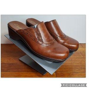 Clarks Leather Mules Sz 8M